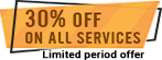 30% discount on all services